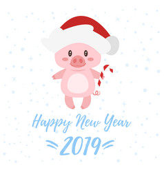 2019 new year greeting card vector