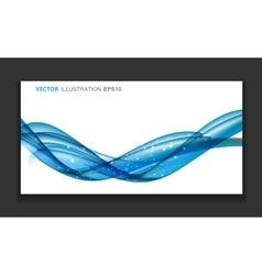 Abstract Colored Wave Card Set Background vector