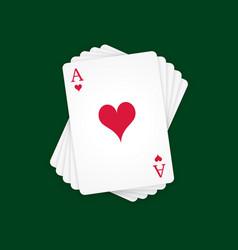Ace hearts vector