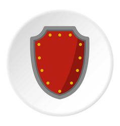Army protective shield icon circle vector