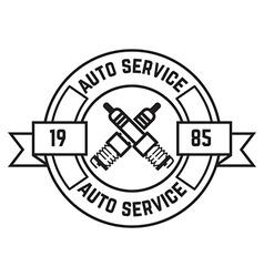 Auto service label vector
