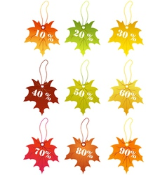 autumn sale labels vector image