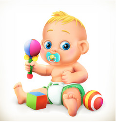 baand toys 3d icon vector image