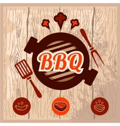 Bbq logo design vector