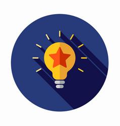 best idea icon star icon light bulb icon vector image