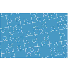 blue banner pieces puzzle jigsaw banner vector image