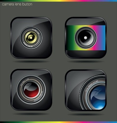 camera lens button vector image
