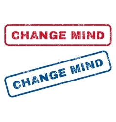 Change mind rubber stamps vector