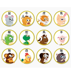 Chinese Zodiac Animals vector image