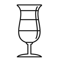 chocolate cocktail icon outline style vector image