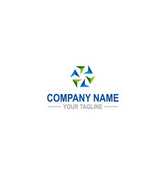 circle arrow colored company logo vector image