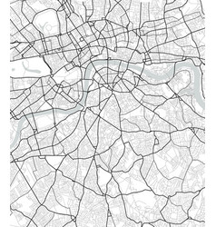 City map of london in black and white vector