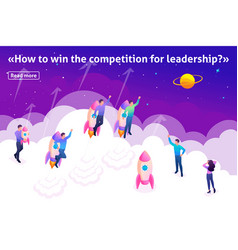 concept young entrepreneurs compete for leadership vector image