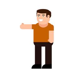contented man icon vector image