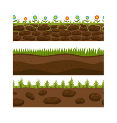 Cross section ground slice isolated grownd piece vector