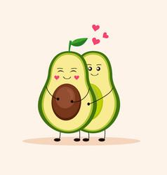 Cute avocado avocado love 3 vector