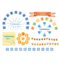 Design elements for fundraising and donation vector