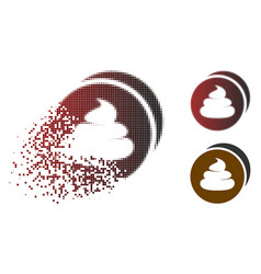 Dissolved pixelated halftone shitcoins icon vector