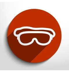 Diving mask web icon vector