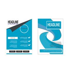 Double blue flyer design vector