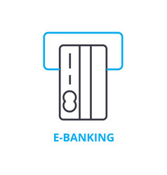 e-banking concept outline icon linear sign vector image