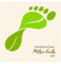earth day green leaf carbon footprint concept vector image