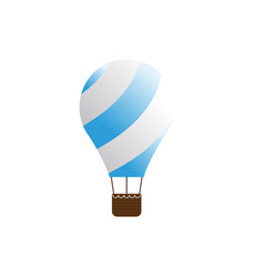 elegant air balloon template vector image