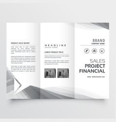elegant business tri-fold brochure design vector image