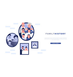 family history web template geneaology ancestry vector image