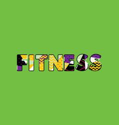 Fitness concept word art vector