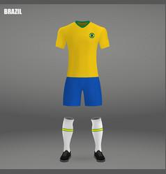 Football kit of brazil 2018 vector
