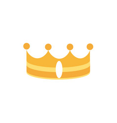 gold crown monarch jewel royalty vector image