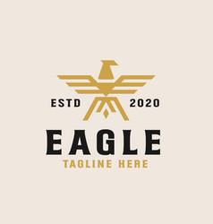 golden eagle logo template vector image