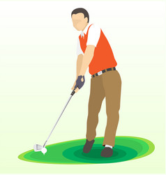 golf swing front view vector image