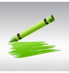 green crayon vector image