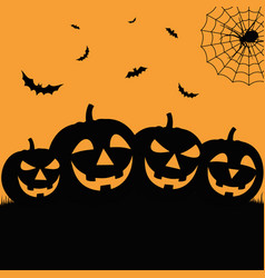 Halloween poster in flat design with grinning vector