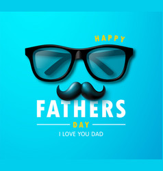 happy father s day banner with glasses and vector image