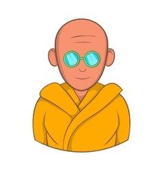 Indian monk in sunglasses icon cartoon style vector