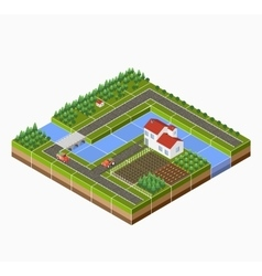 Isometric landscape vector image