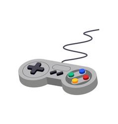 joystick control video game controller play vector image