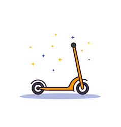 Kick scooter on white vector