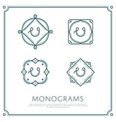 Letter U Monogram vector