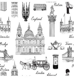 London landmark seamless pattern travel europe vector