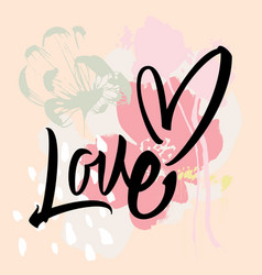 love calligraphy lettering vector image