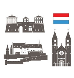 Luxembourg vector image
