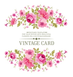 Luxurious color rose card vector image