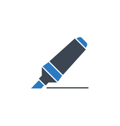marker pen related glyph icon vector image