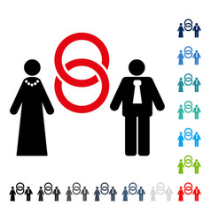Marriage persons icon vector