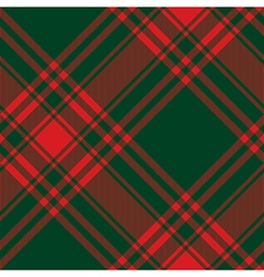 Menzies tartan green red kilt diagonal fabric vector image