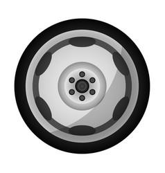 Modern auto rim icon vector